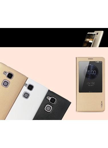 Uni Huawei Ascend Mate 7 Quick View Smart Leather Kılıf -Rock